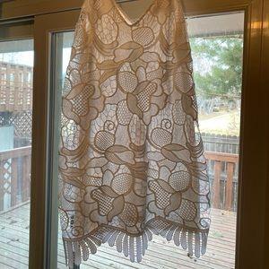 White lace express mini dress